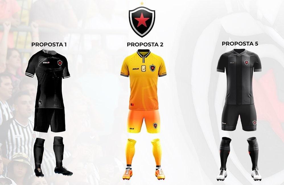 Botafogo-PB divulga finalistas de concurso para terceira camisa