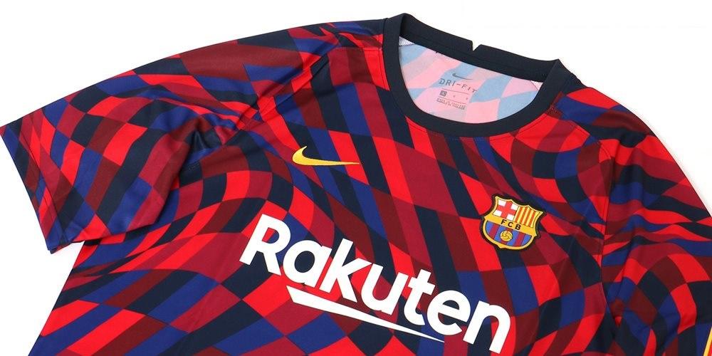 Camisa pré-jogo do FC Barcelona 2020-2021 Nike