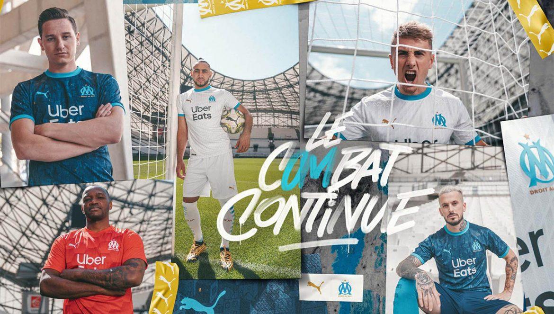Camisas do Olympique de Marseille 2020-2021 PUMA a