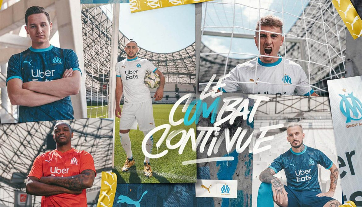 Camisas do Olympique de Marseille 2020-2021 PUMA a