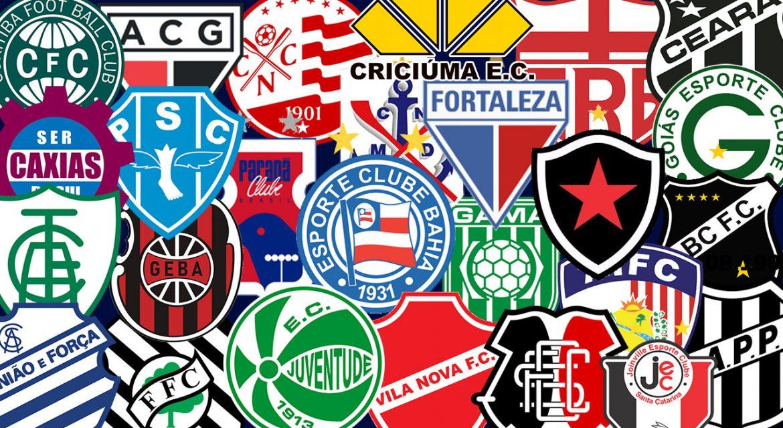Clubes com marcas próprias no Brasileirão séries A, B, C e D em 2020