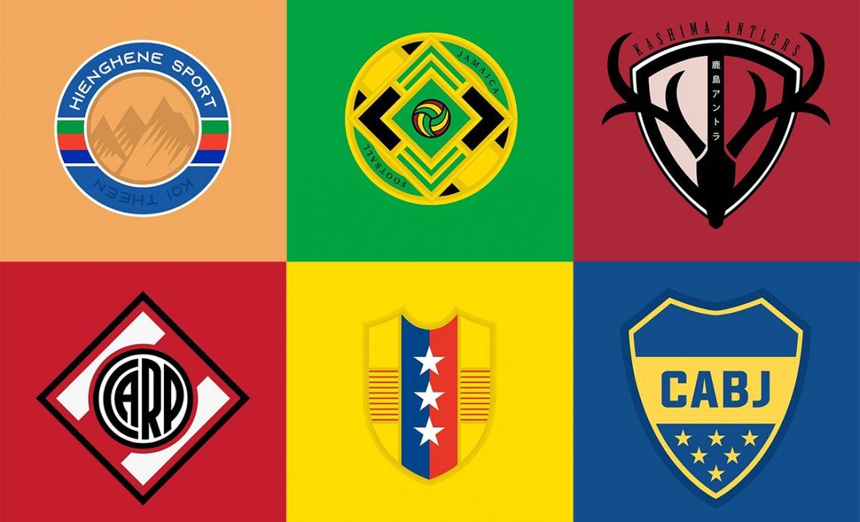 Escudos de equipes e seleções modernizados (Don Elece)