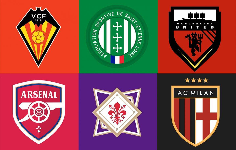 Escudos de equipes europeias modernizados Don Elece