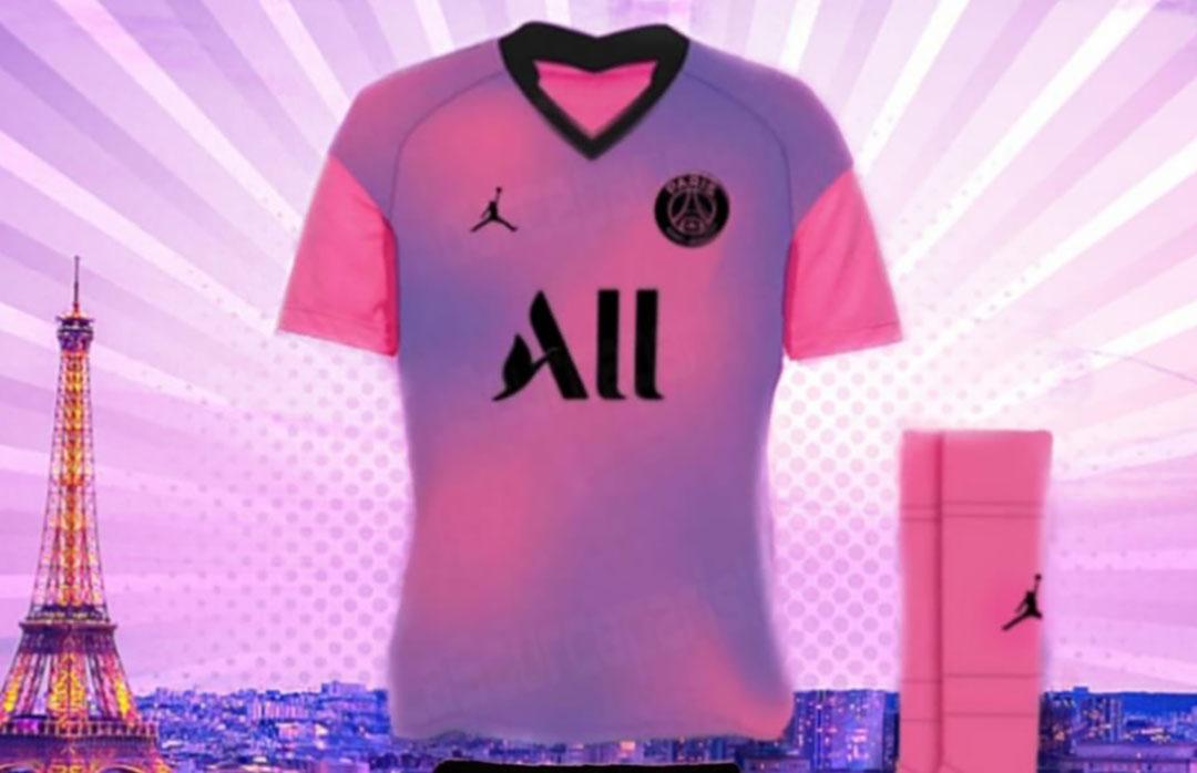 Quarta camisa do PSG 2020-2021 Jordan abre