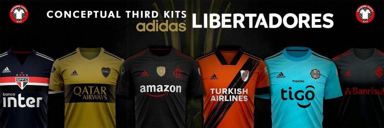 Terceiras camisas dos clubes Adidas da Libertadores 2020 (Kauai Designer)