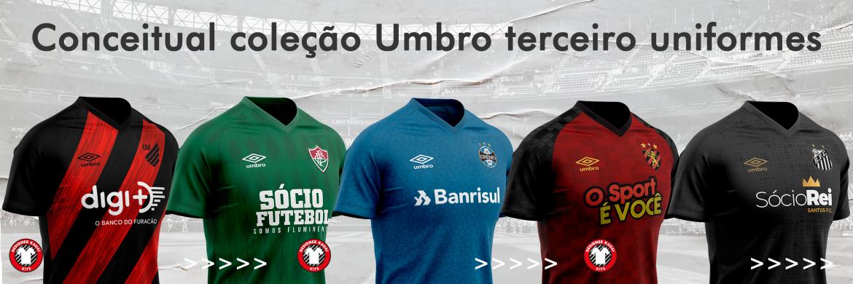 Terceiras camisas dos times Umbro 2020-2021 (Kauai Designer)