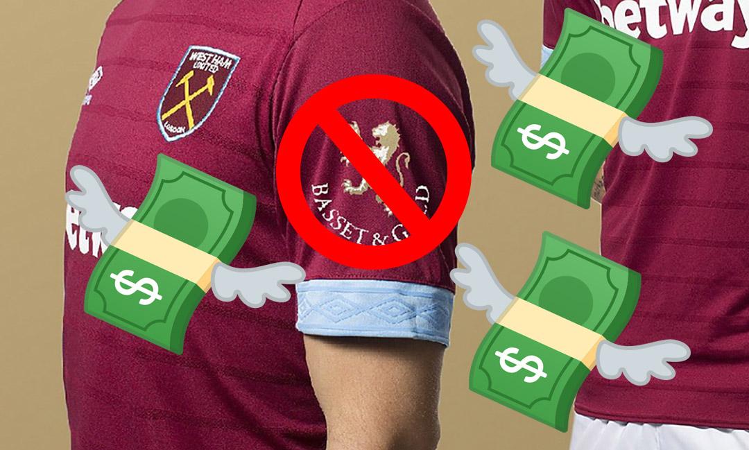 West Ham perde patrocinador das mangas por bancarrota