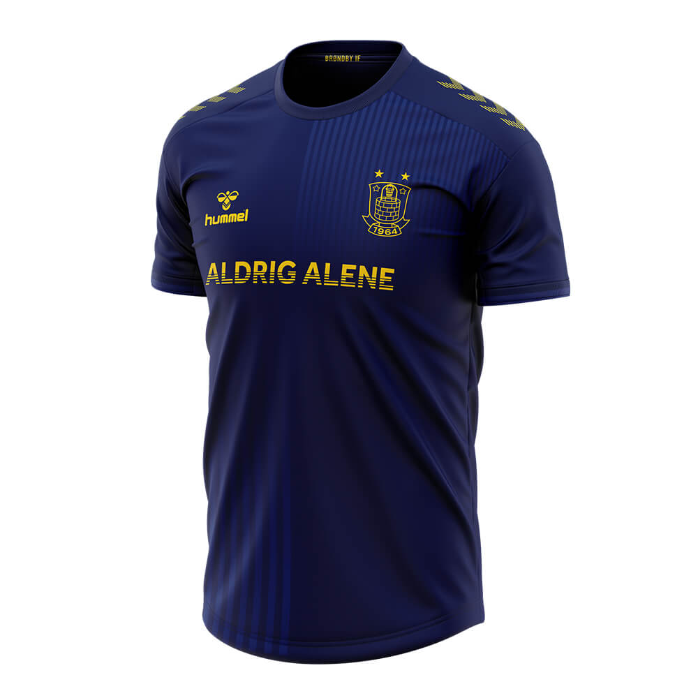 Camisa Never Alone do Brøndby IF 2020 Hummel