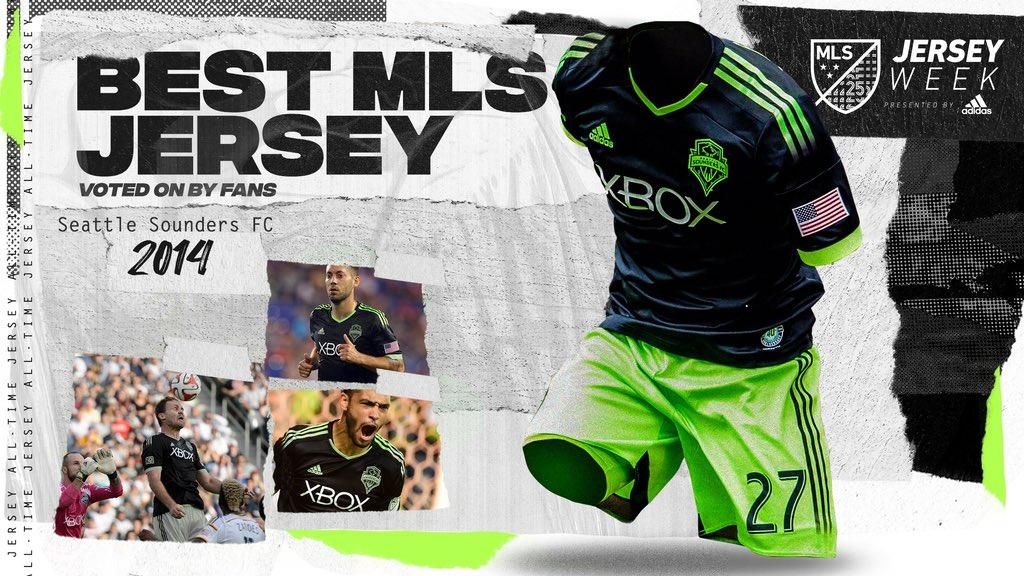 Camisa do Seattle Sounders eleita a melhor da história da MLS pelos fãs