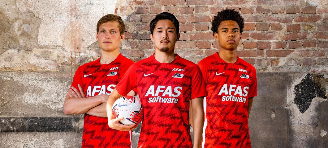 Camisas do AZ Alkmaar 2020-2021 Nike abre