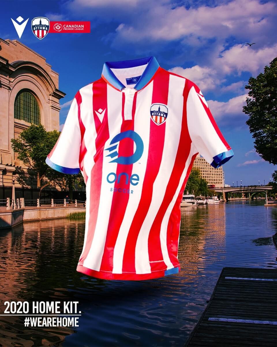 Camisas do Atlético Ottawa 2020-2021 Macron