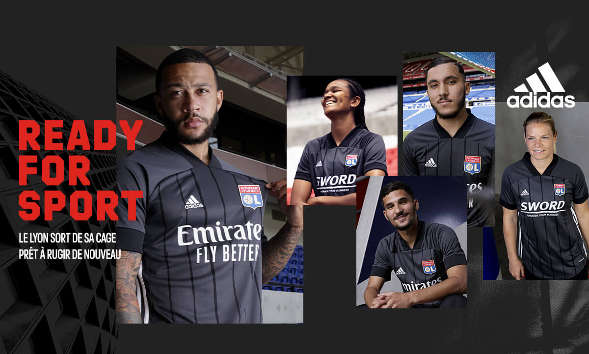 Camisas do Olympique Lyon 2020-2021 Adidas