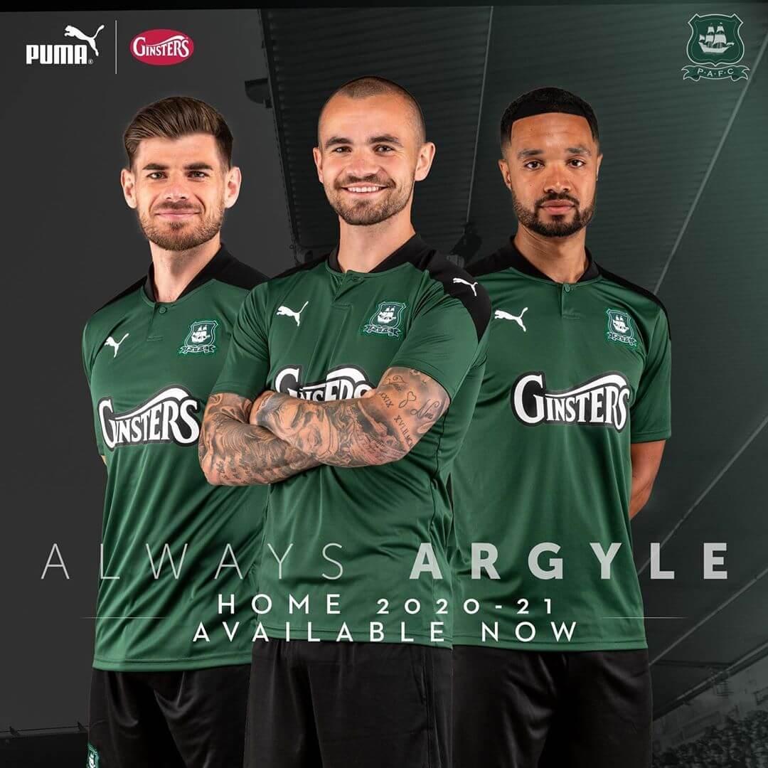 Camisas do Plymouth Argyle 2020-2021 PUMA