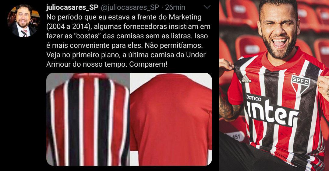 Candidato à presidência do São Paulo critica nova camisa reserva