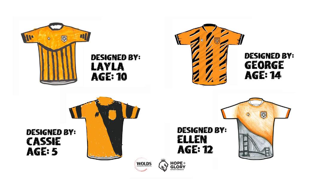 Hull City Ladies divulga finalistas de concurso com camisas desenhadas por crianças
