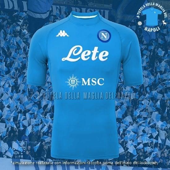 SSC Napoli deve ter patrocinadores monocromáticos em 2020-2021