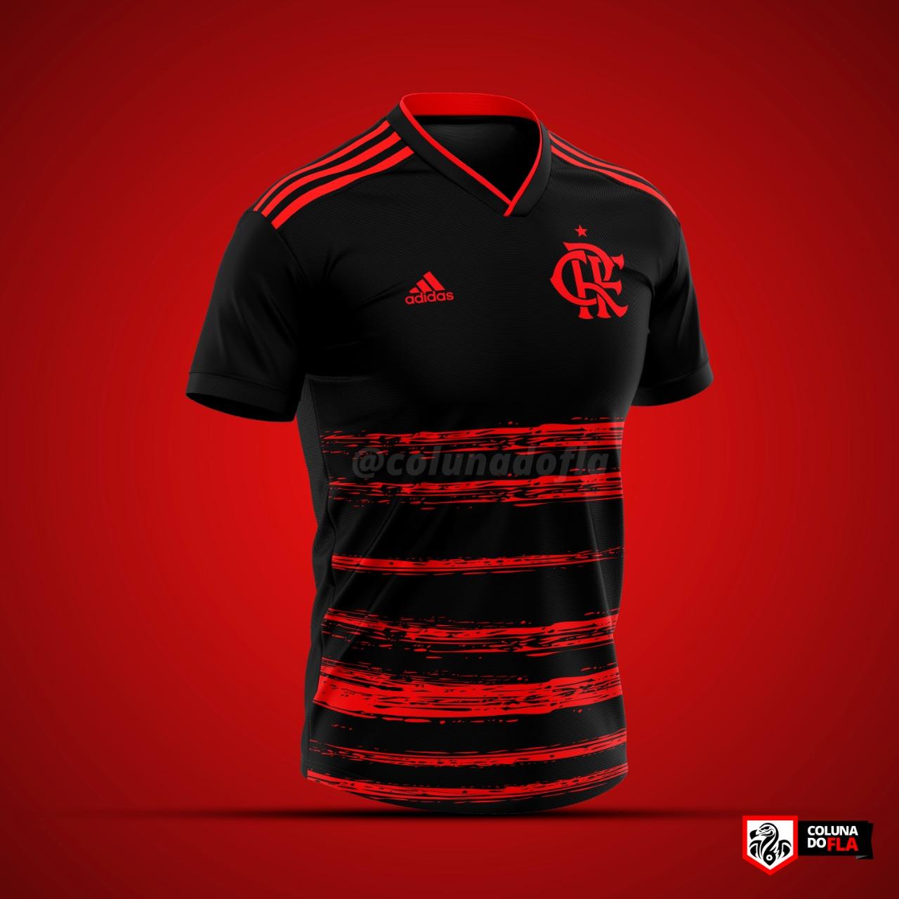 Terceira camisa do Flamengo 2020-2021 Adidas ColunadoFla