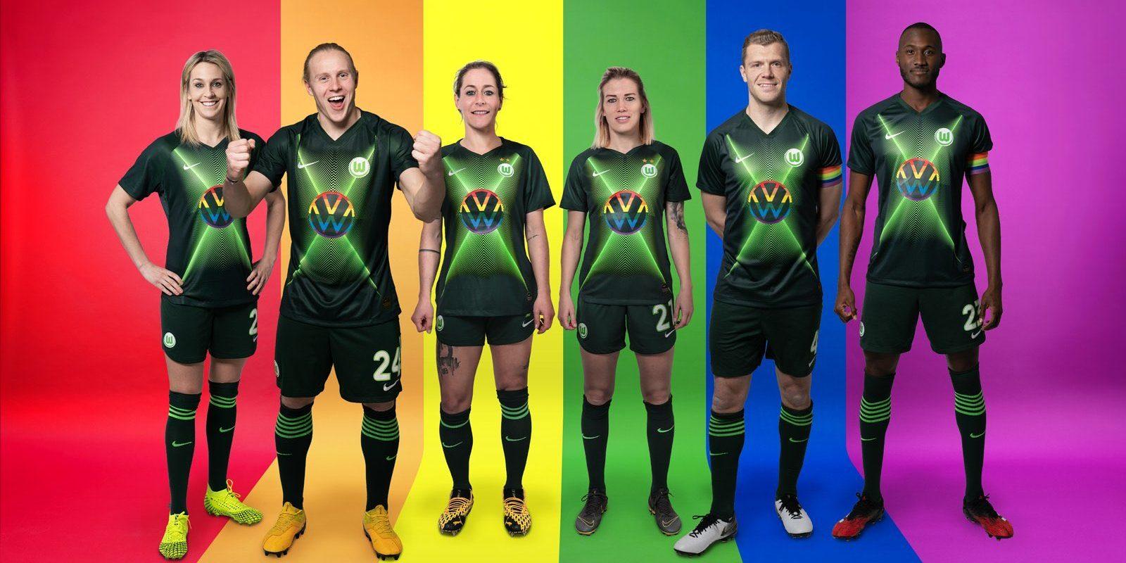 Wolfsburg utilizará camisa da diversidade na Bundesliga