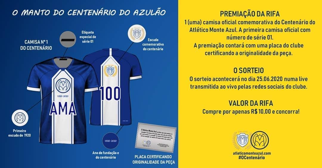 Camisa do centenário do Atlético Monte Azul 2020