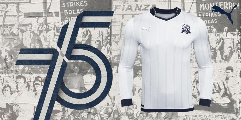 Camisa dos 75 anos do Rayados de Monterrey 2020 PUMA abre