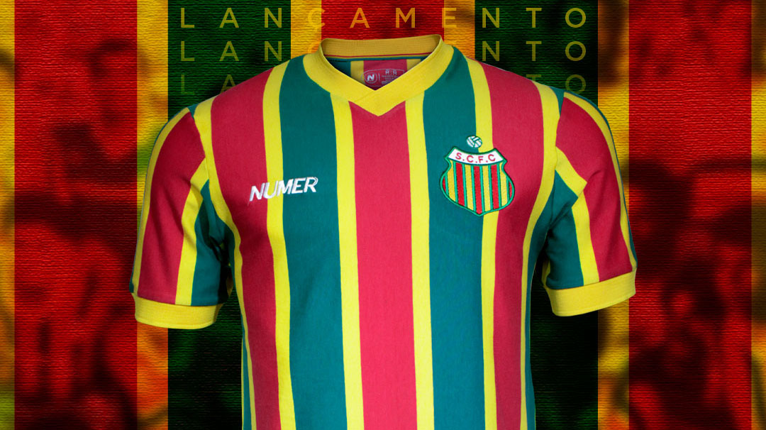 Camisa retrô do Sampaio Corrêa 1988 Numer abre