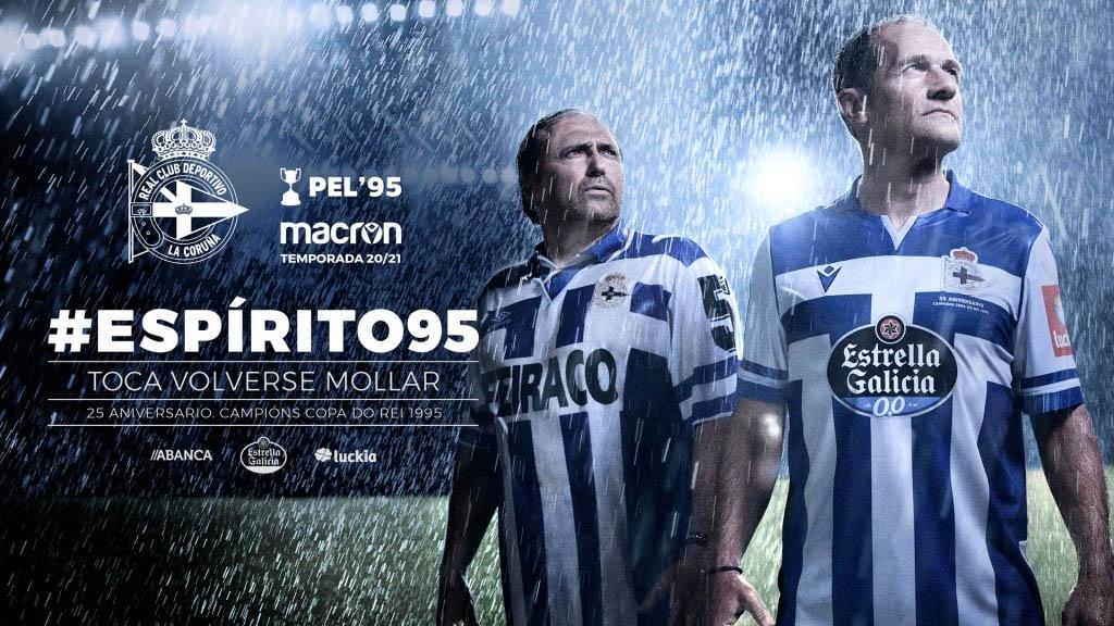 Camisas do Deportivo La Coruña 2020-2021 Macron a