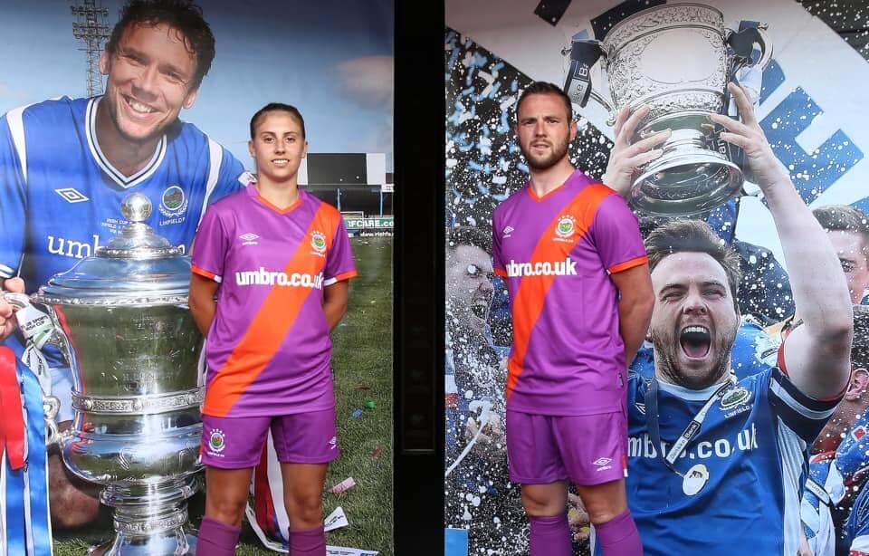 Camisas do Linfield FC 2020-2021 Umbro