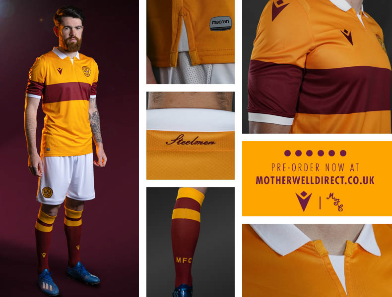 Camisas do Motherwell 2020-2021 Macron