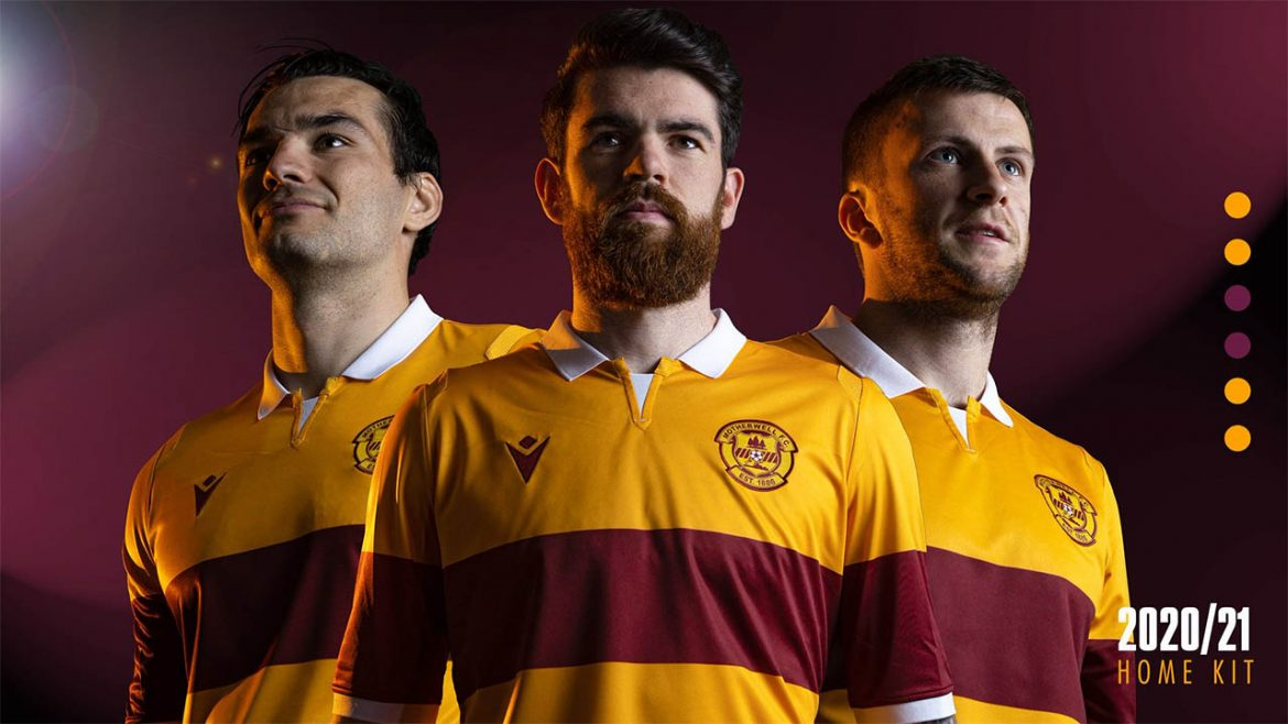 Camisas do Motherwell 2020-2021 Macron a