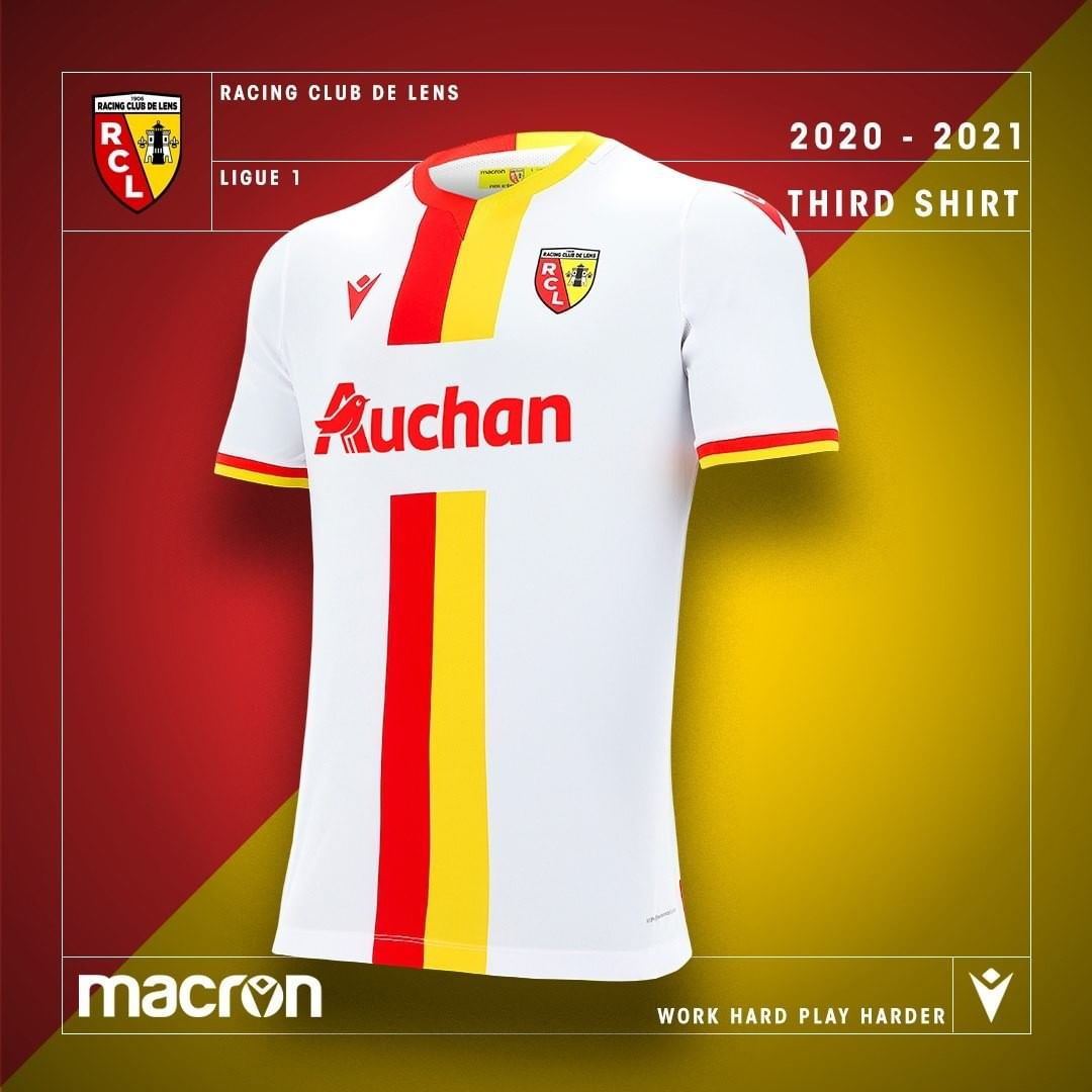Camisas do RC Lens 2020-2021 Macron