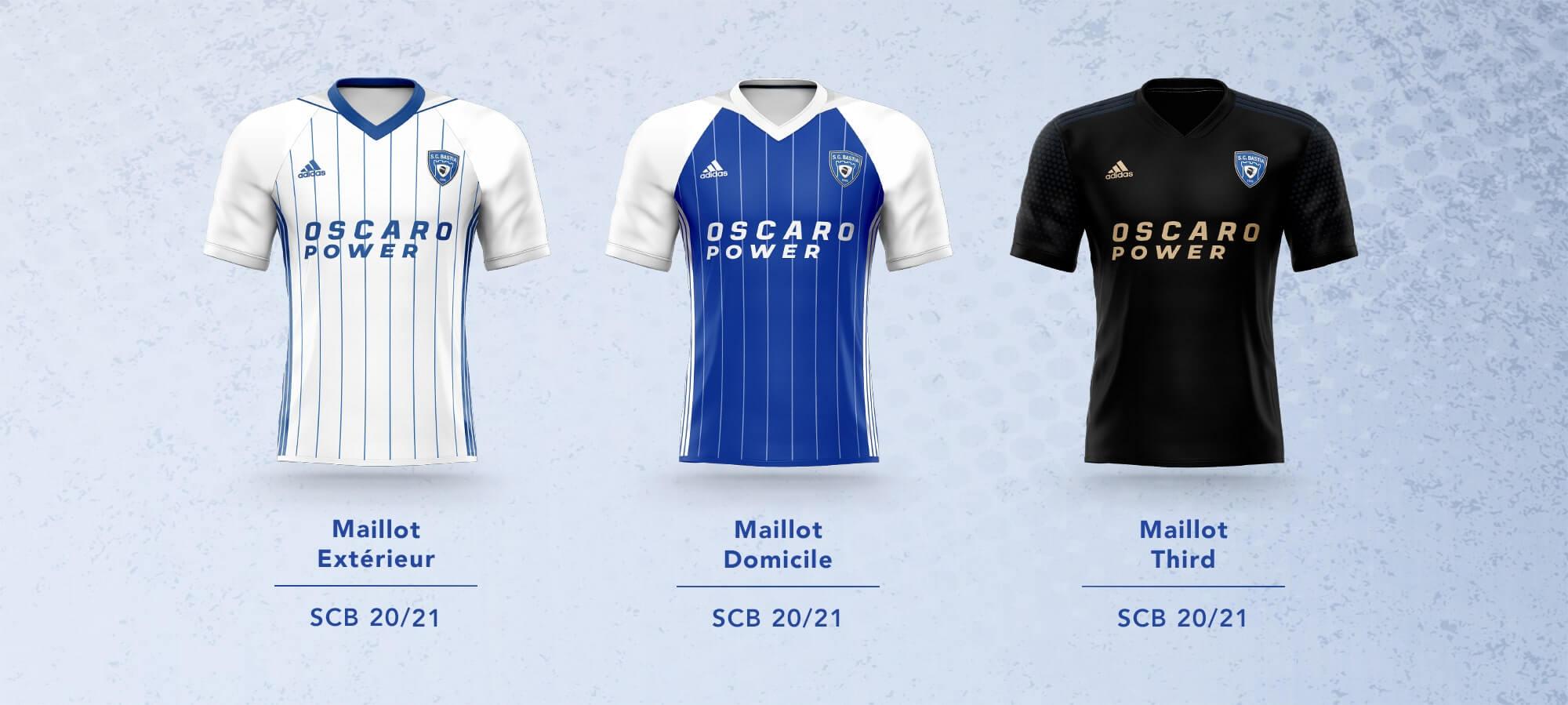Camisas do SC Bastia 2020-2021 Adidas