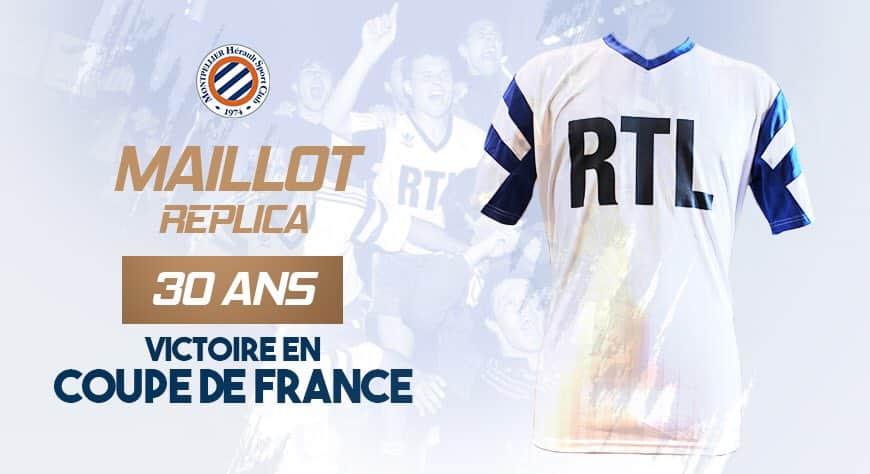 Montpellier lança camisa retrô da Copa da França 1990