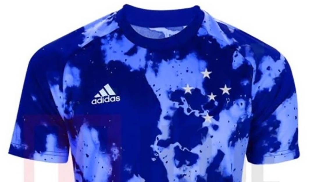Terceira camisa do Cruzeiro 2020-2021 Adidas Hoje em Dia Montagem a
