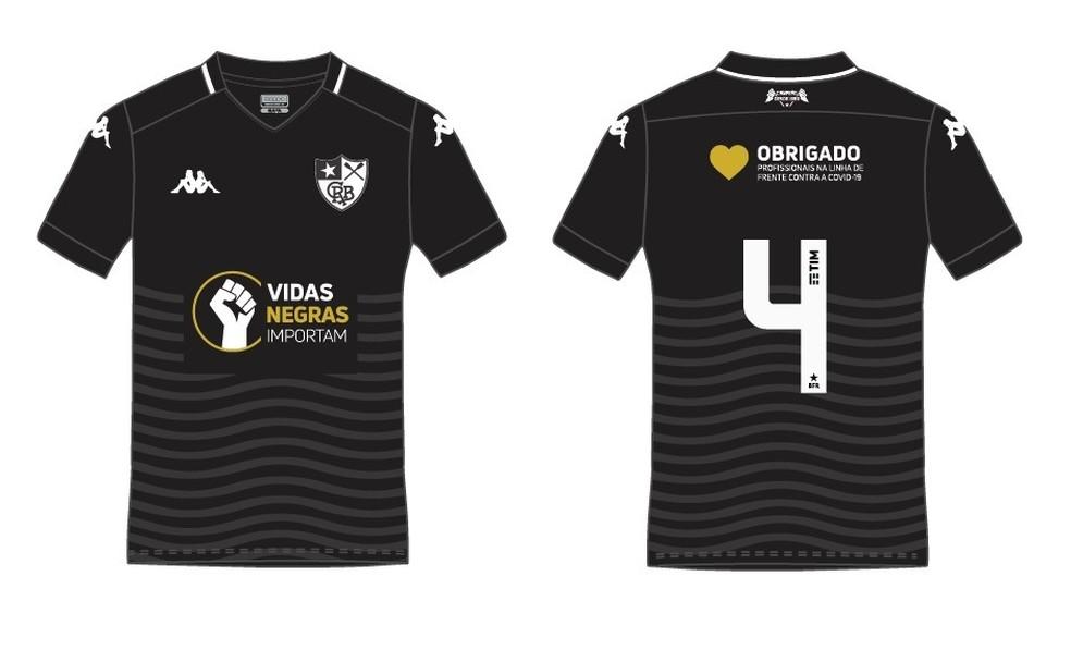 """Botafogo usará camisa """"Vidas Negras Importam"""""""