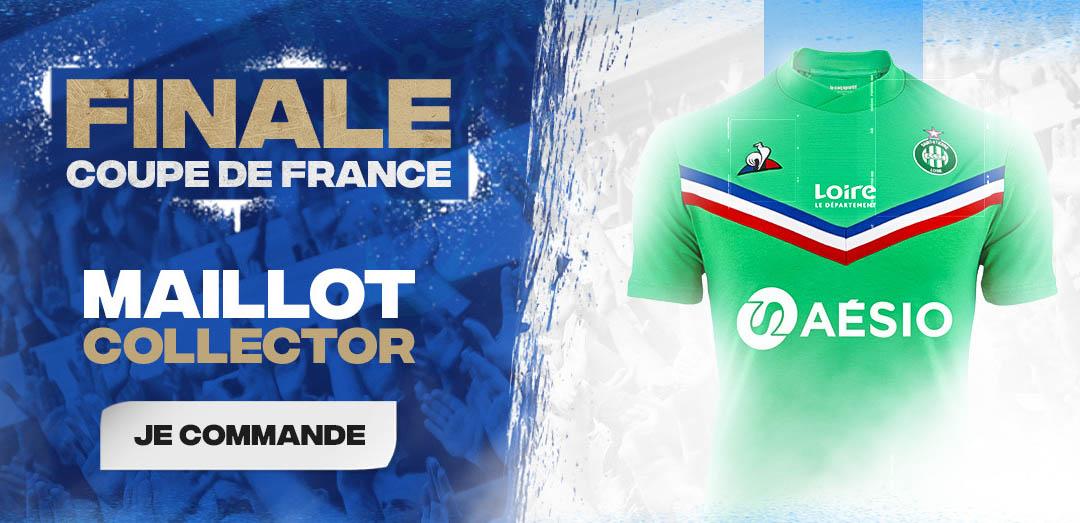 Camisa especial do Saint-Étienne Final Copa da França 2020 Le Coq Sportif a