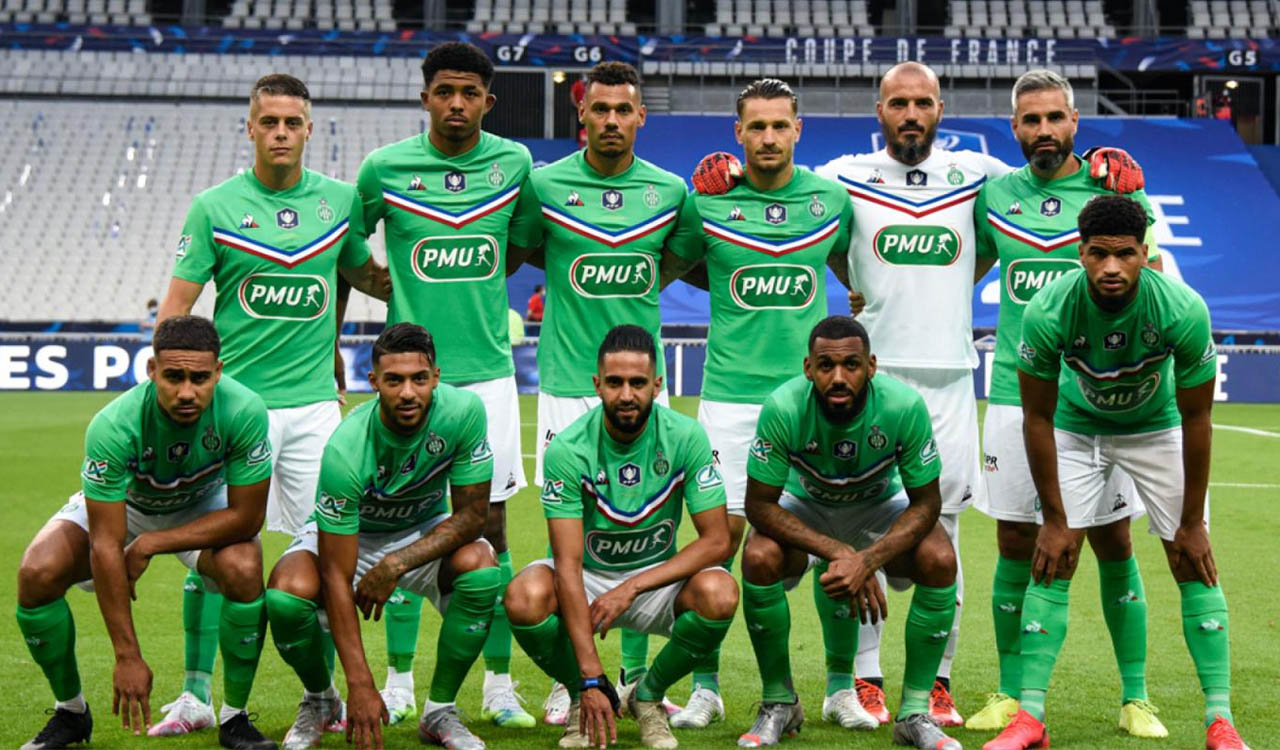 Camisa especial do Saint-Étienne Final Copa da França 2020 Le Coq Sportif s