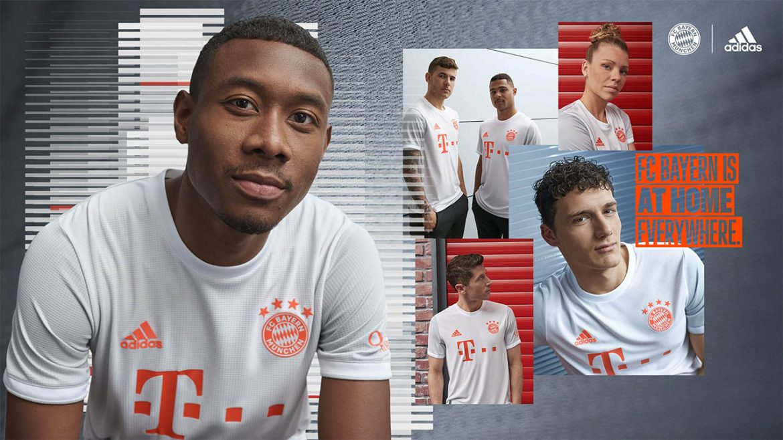 Camisa reserva do Bayern de Munique 2020-2021 Adidas a
