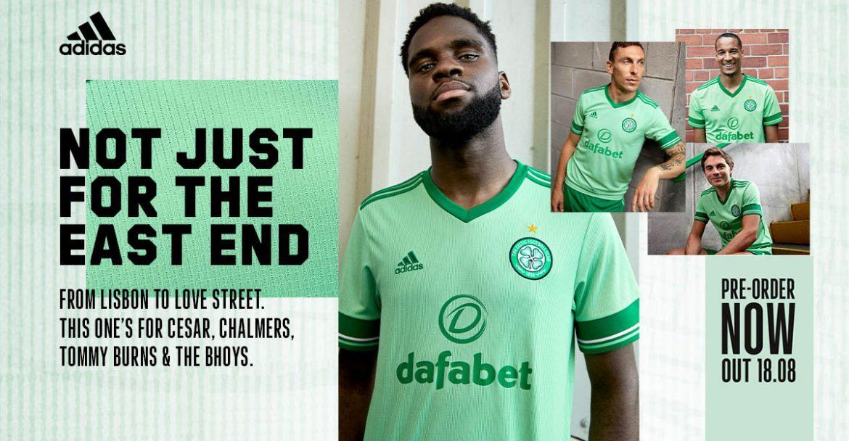 Camisa reserva do Celtic FC 2020-2021 Adidas