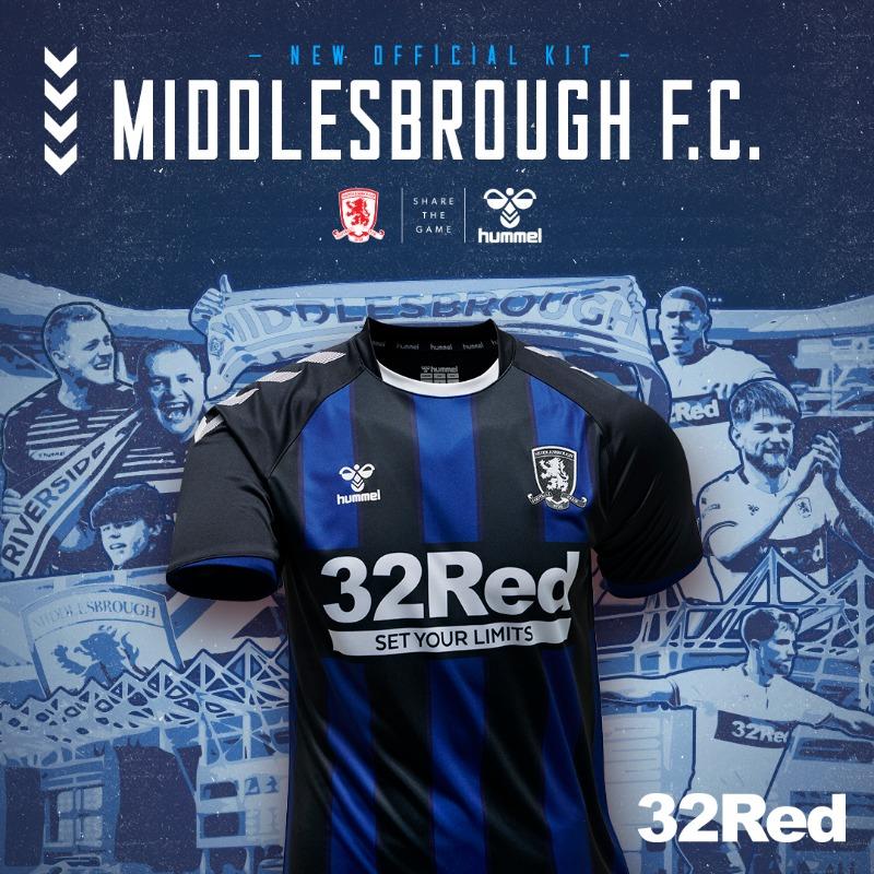 Camisa reserva do Middlesbrough 2020-2021 Hummel