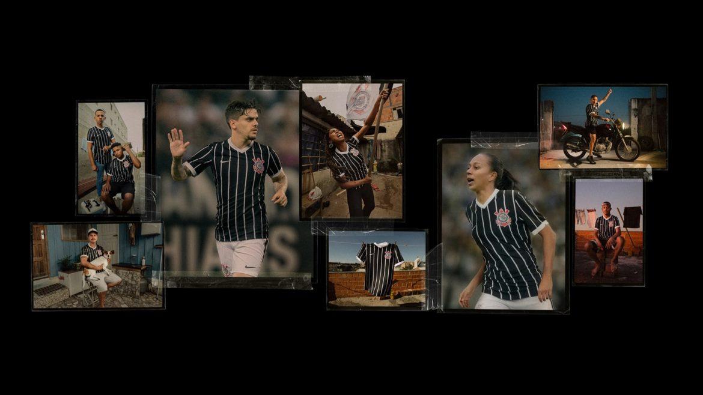 Camisa reserva listrada do Corinthians 2020-2021 Nike a