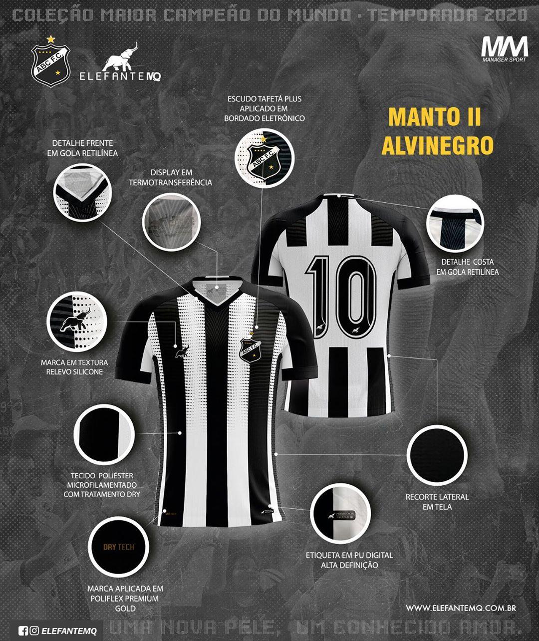 Camisas do ABC FC 2020-2021 Elefante MQ