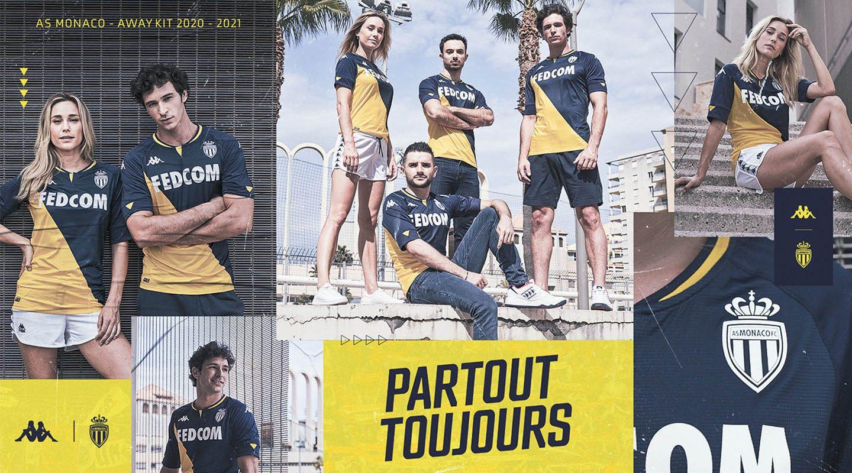 Camisas do AS Monaco 2020-2021 Kappa a