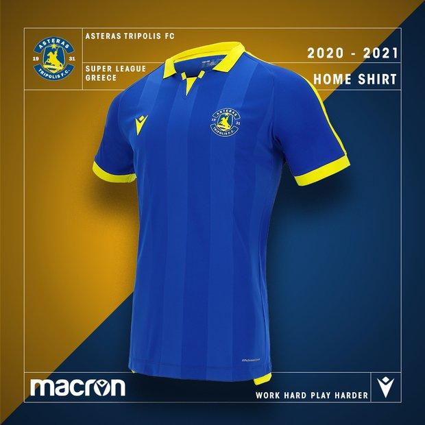 Camisas do Asteras Tripolis 2020-2021 Macron