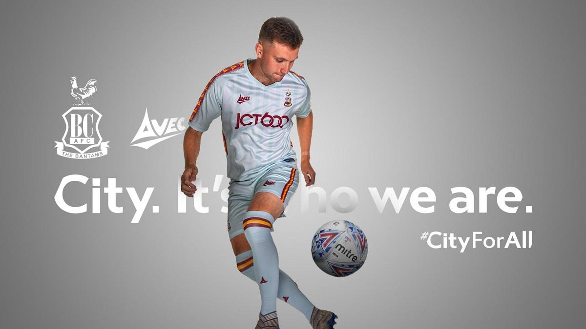 Camisas do Bradford City 2020-2021 Avec