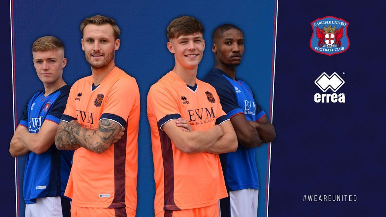 Camisas do Carlisle United 2020-2021 Erreà