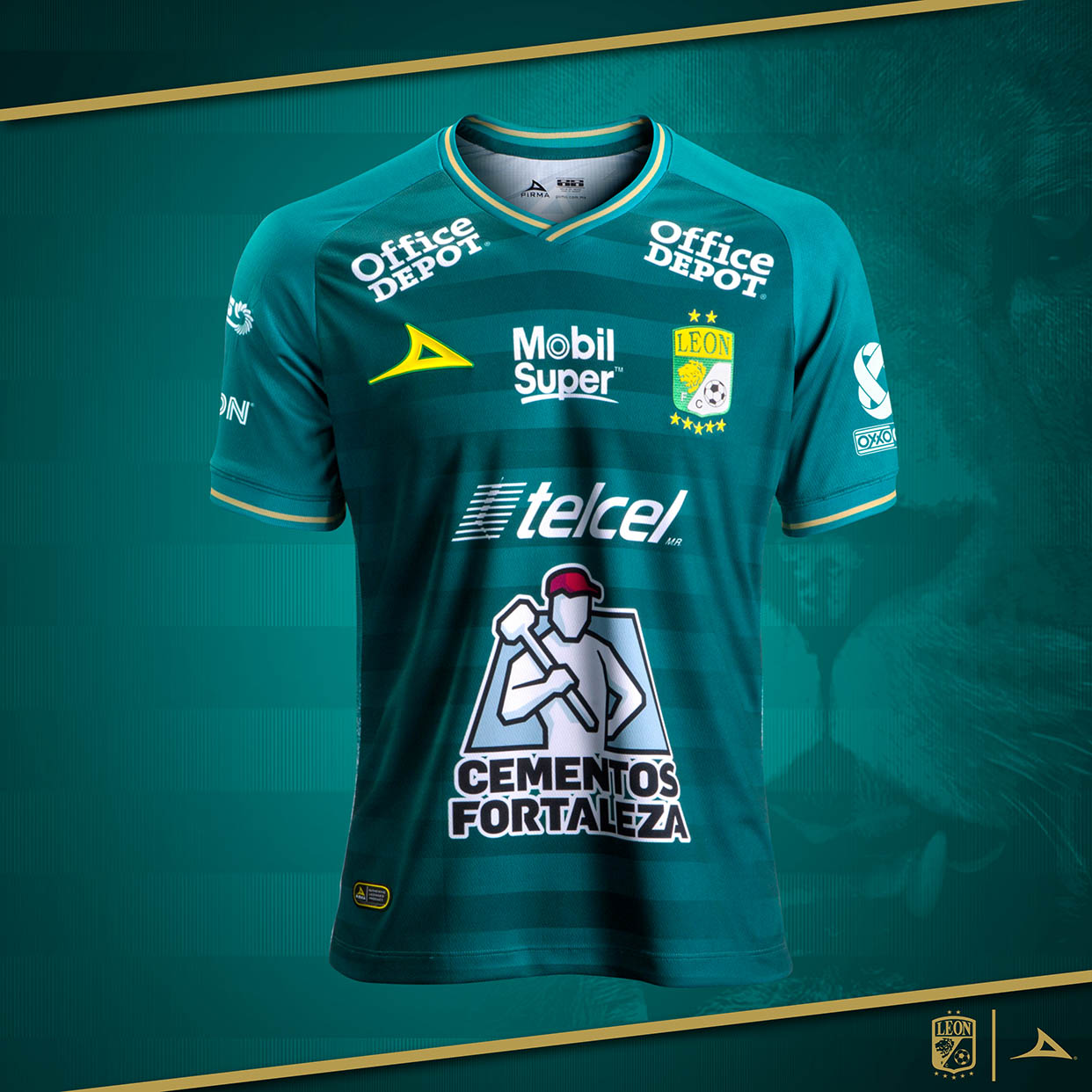Camisas do Club León 2020-2021 Pirma Titular