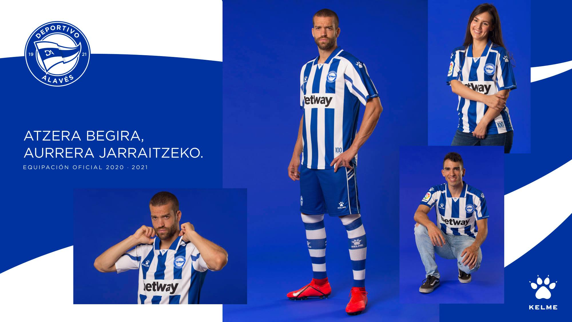 Camisas do Deportivo Alavés 2020-2021 Kelme Titular