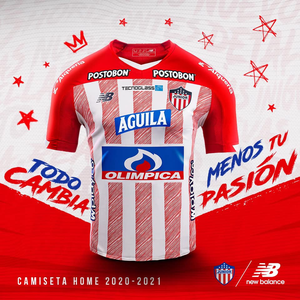 Camisas do Junior Barranquilla 2020-2021 New Balance kit