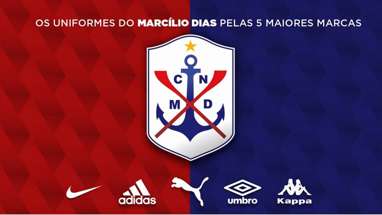 Camisas do Marcílio Dias pela cinco maiores marcas (Cainan Rafael)