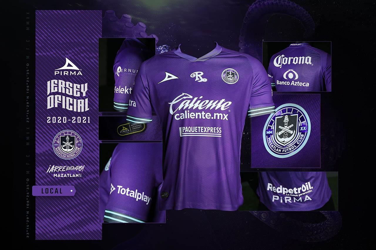 Camisas do Mazatlán FC 2020-2021 Pirma